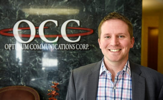 Director of Branch Sales Bryan Fleegel is pictured Thursday, Sept. 6,  in the lobby of the firm's offices in St. Augusta.