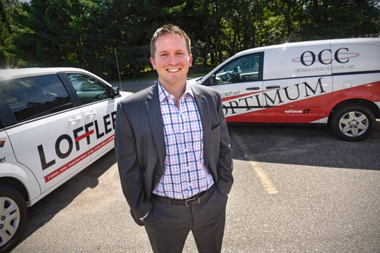 Director of Branch Sales Bryan Fleegel is pictured Thursday, Sept. 6,  at the company's headquarters in St. Augusta.