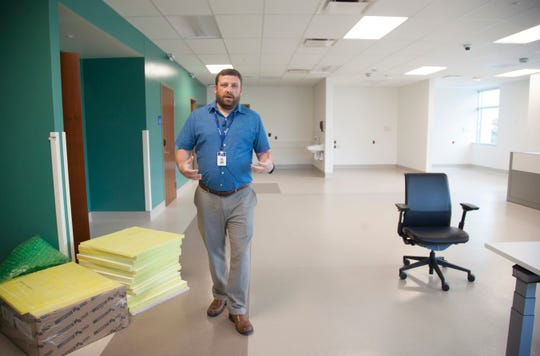 Intermountain Healthcare Behavioral Health Manager Jeremy Nielsen says the new rooms are both safe and aesthetically pleasing.