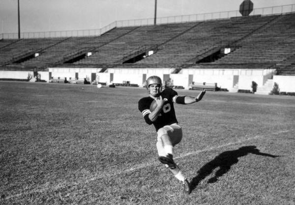 Burt Reynolds in FSU football uniform in 1954.
