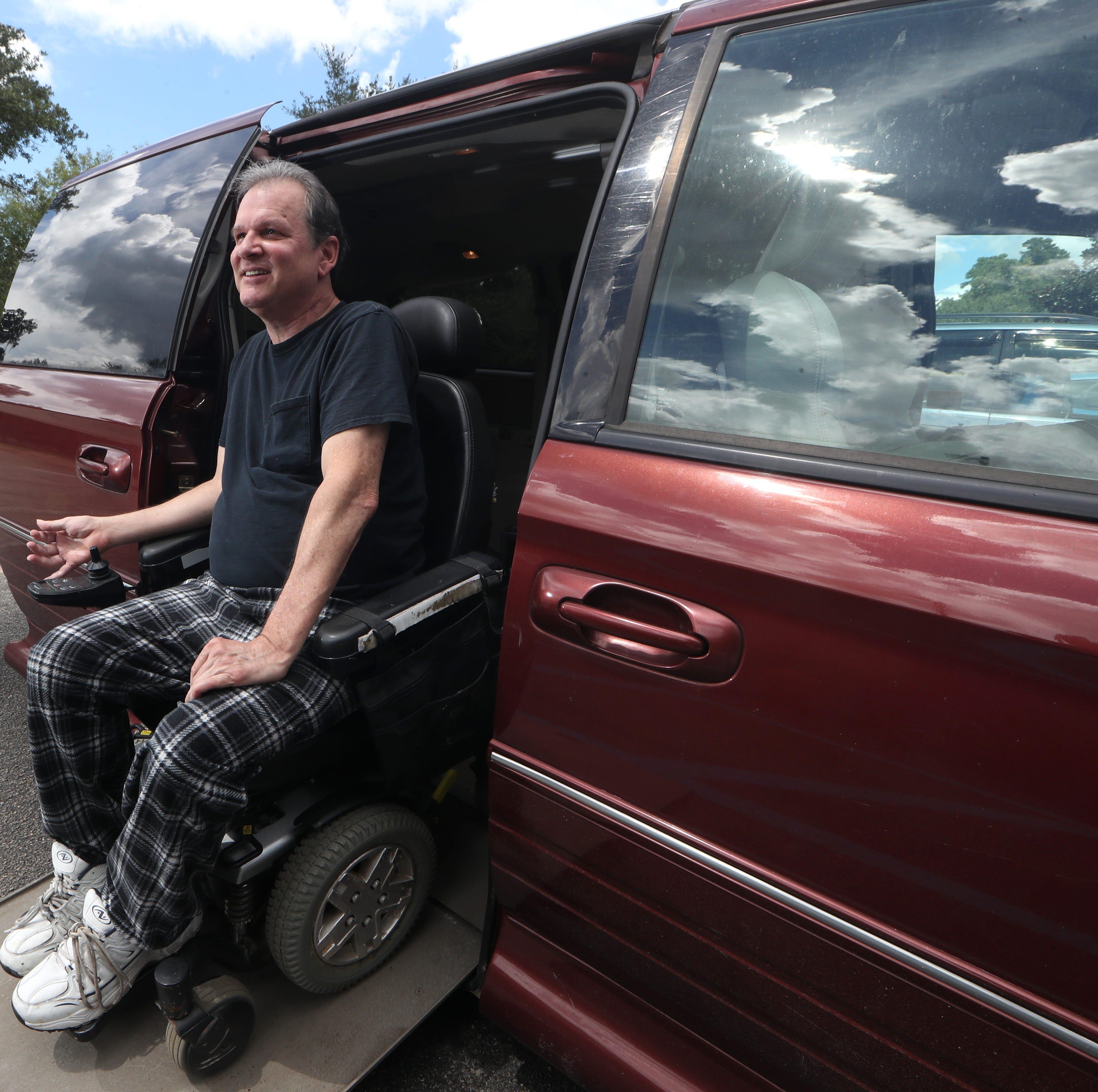 A friend in deed to a friend in need: Inherited van a lifesaver for quadriplegic