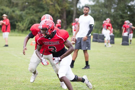 """Munroe senior Julian """"J.R."""" Harrison is the Big Bend Preps Athlete of the Week for week 2 after making a school-record three interceptions and scoring touchdowns on a run and a punt return in the Bobcats' 35-0 win over Georgia Christian last week."""