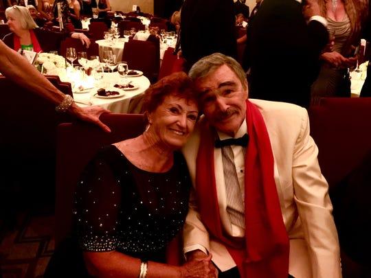 Sue Hall and Burt Reynolds in Hollywood.