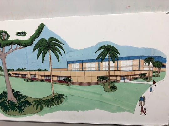 A drawing of the 14,000-square-foot addition to the Gifford Youth Achievement Center.