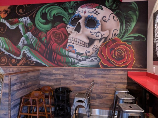 Mural on the wall at Chronic Tacos Mexican Grill in Vero Beach.