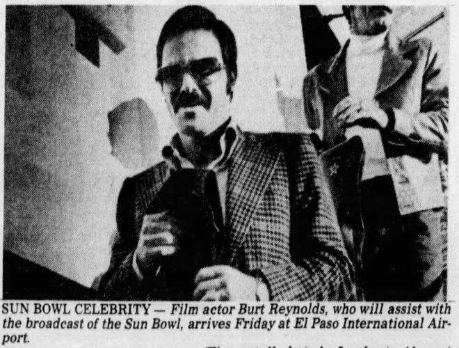 Burt Reynolds arrives at El Paso International Airport.