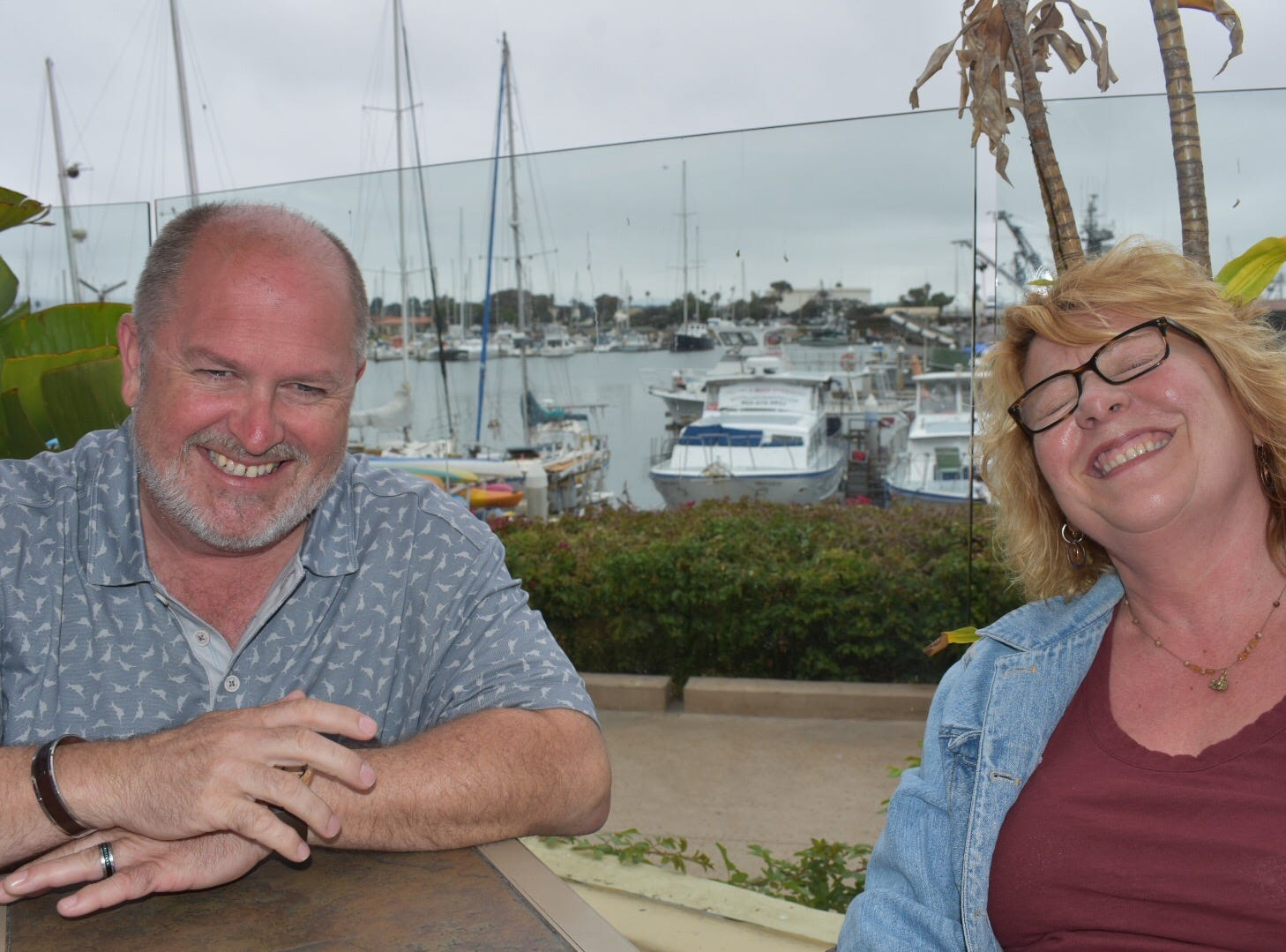 Kris Kaufmann, of Pittsburgh, and Katherine Hamilton, of Camarillo, met earlier this month after DNA tests indicated they are siblings.