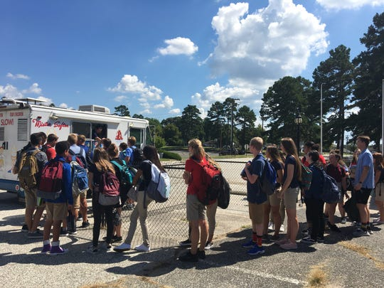 Cumberland Christian School students enjoyed a cool treat from the Mister Softee Ice Cream Truck on the first day of school.