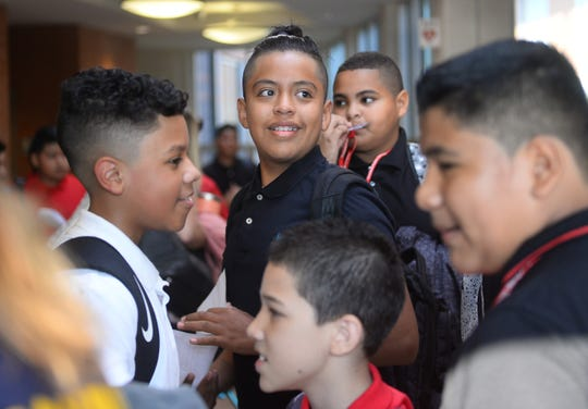 Vineland students marked the first day of the new school year at Wallace Middle School on Thursday, September 6.