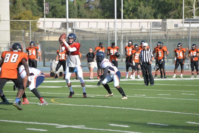 Ryan Johnson is the starting quarterback for the College of the Sequoias' football team.