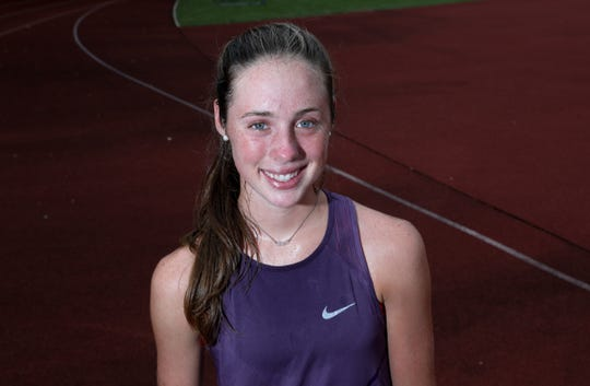 Ursuline senior Sarah Flynn photographed at Iona Prep High School in New Rochelle on Thursday, September 6, 2018.  Flynn, a cross-country runner from Ursuline is hosting a fundraisers for two sports-related charities.