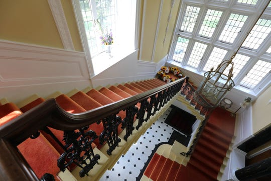 The main stairway at the Table Rock estate in Sloatsburg Sept. 5, 2018. The Sisters Servants of Mary Immaculate are looking to sell the estate for $22 million.