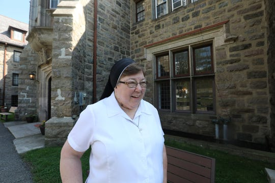 Sister Michele Yakymovitch of the Sisters Servants of Mary Immaculate at the Table Rock estate in Sloatsburg Sept. 5, 2018. They are looking to sell the estate for $22 million.