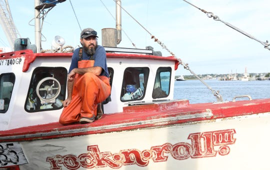 Scallop fisherman Chris Scola photographed on his boat, Rock n Roll II, in Montauk on Tuesday, September 4, 2018.