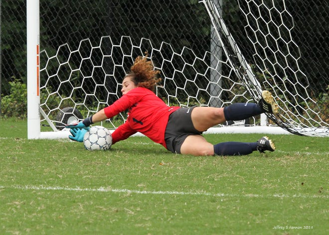 File photo of Goldey-Beacom senior goalkeeper Marta Lopez.