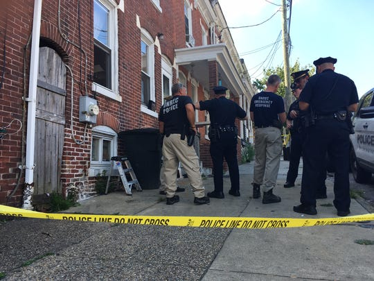 Emergency responders arrive at the 1300 block of West 4th Street Thursday to an overdose.