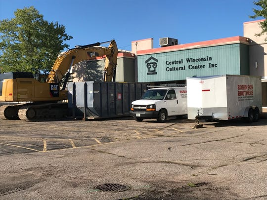 Crews are getting ready do demolish buildings in downtown Wisconsin Rapids, including the former Central Wisconsin Cultural Center building.