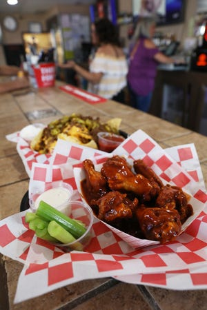Wings at Just 1 More on Linden Avenue in Zanesville.