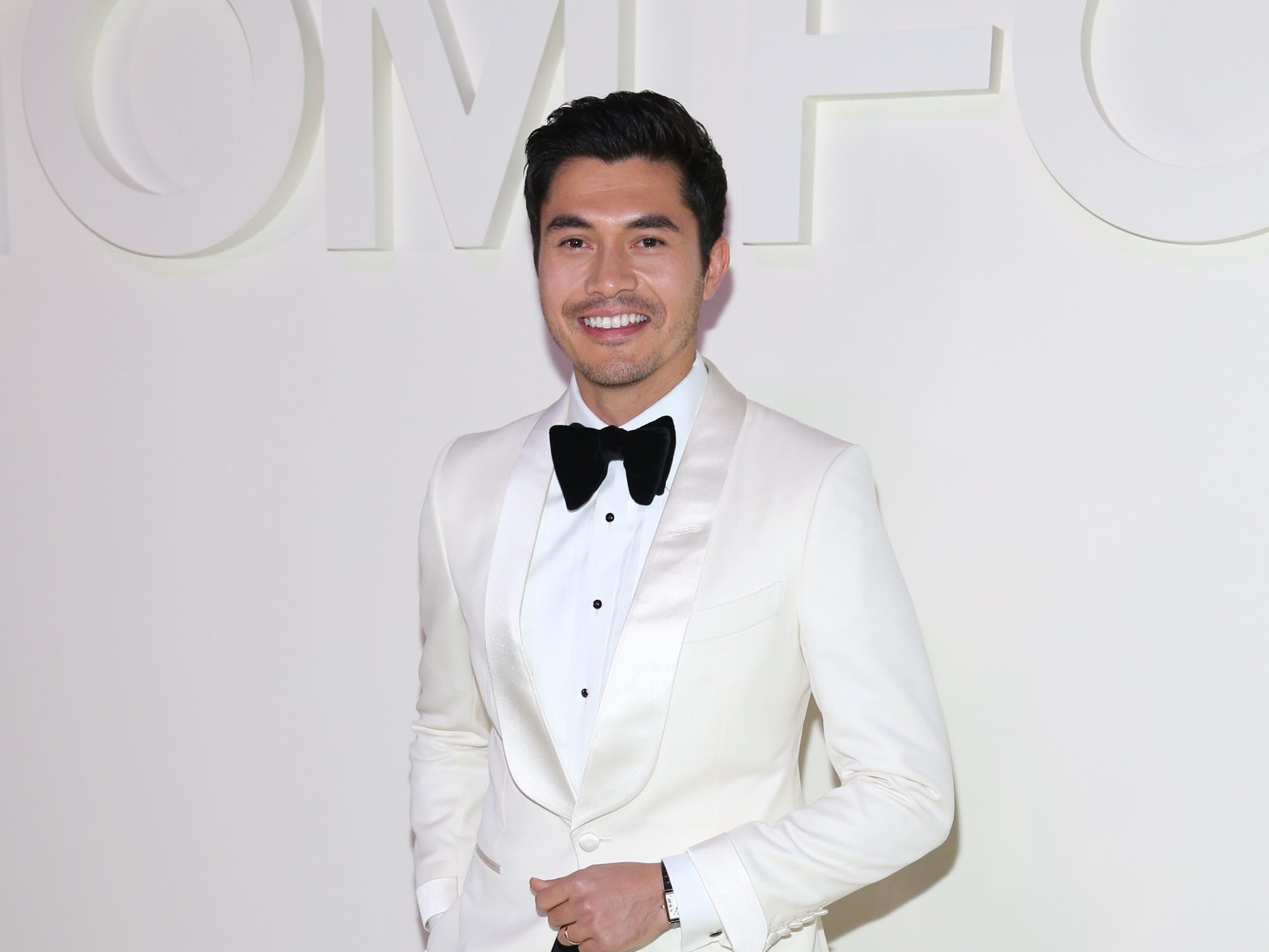"""Crazy Rich Asians"" star Henry Golding looked dapper in a black bow tie."