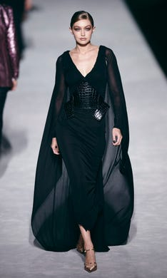 Fashion from Tom Ford collection is modeled during Fashion Week in New York,  Wednesday, dde836f08700