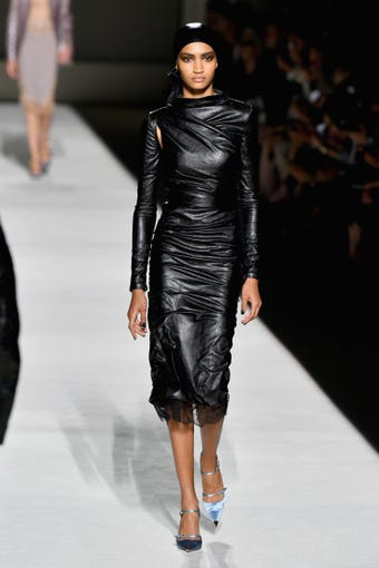 NEW YORK, NY - SEPTEMBER 05: A model walks the runway at the Tom Ford fashion show during New York Fashion Week at Park Avenue Armory on September 5, 2018 in New York City. (Photo by Slaven Vlasic/Getty Images) ORG XMIT: 775216226 ORIG FILE ID: 1027432444