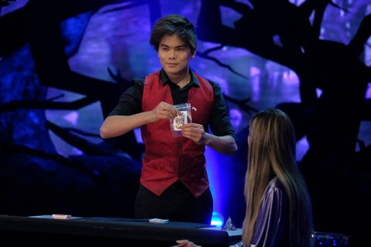 Magician Shin Lim, seen performing on 'America's Got Talent' Tuesday, advanced to the Season 13 finals on Wednesday.