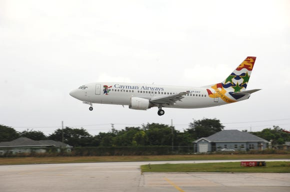 This photo provided by Cayman Airways shows one of the carrier's Boeing 737-300s.