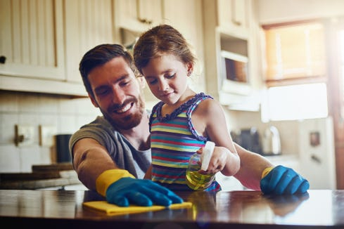 Giving girls chores around the house will help her grow self-discipline and give her perspective for what life is like in the adult world.
