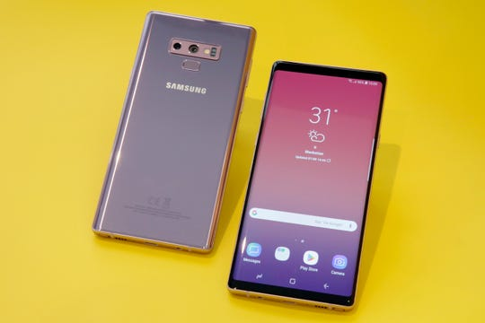 In this Aug. 7, 2018, file photo the Samsung Galaxy Note 9 is shown in New York.