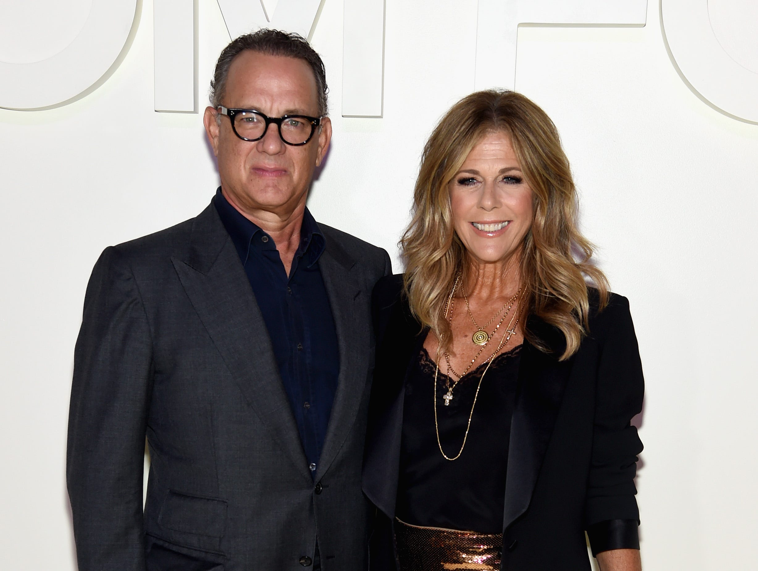 NEW YORK, NY - SEPTEMBER 05:  Tom Hanks and Rita Wilson attend the Tom Ford fashion show during New York Fashion Week at Park Avenue Armory on September 5, 2018 in New York City.  (Photo by Jamie McCarthy/Getty Images) ORG XMIT: 775216222 ORIG FILE ID: 1027412776