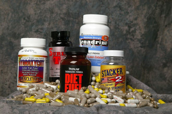 Dietary supplements containing ephedra or ephedrine.
