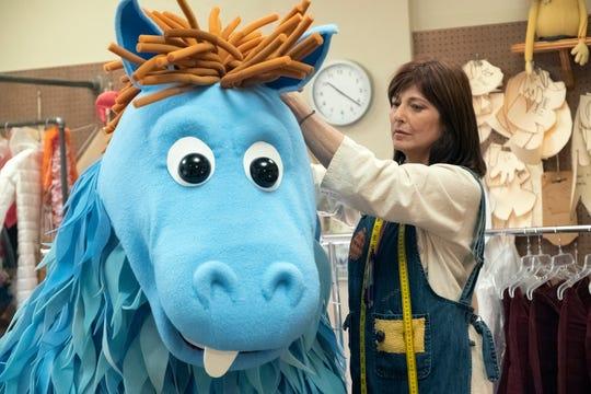 Puppet designer Deirdre (Catherine Keener) is the sister of popular children's show host Mr. Pickles in Showtime's 'Kidding.'