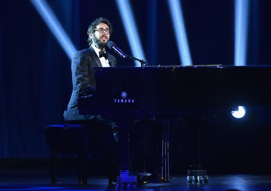 Josh Groban performs onstage during the 72nd Annual Tony Awards at Radio City Music Hall. His latest album come out on Friday.