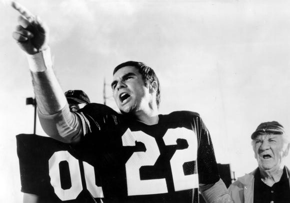 "Burt Reynolds plays an incarcerated quarterback in ""The Longest Yard."""