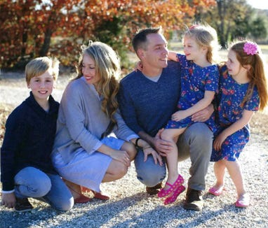 Clint Harp and his family.