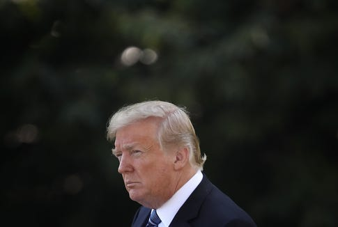 WASHINGTON, DC - SEPTEMBER 06:  U.S. President Donald Trump departs the White House September 6, 2018 in Washington, DC. Trump is scheduled to travel to Montana for a rally later today and a fundraiser in North Dakota tomorrow. (Photo by Win McNamee/Getty Images) ORG XMIT: 775223768 ORIG FILE ID: 1027844156