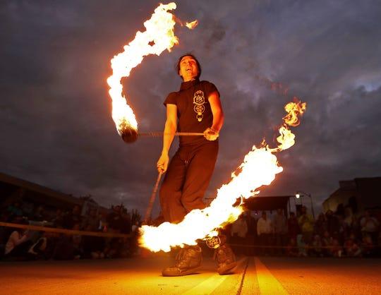 Ryan Ducham performs during a Bazaar After Dark event in 2017.