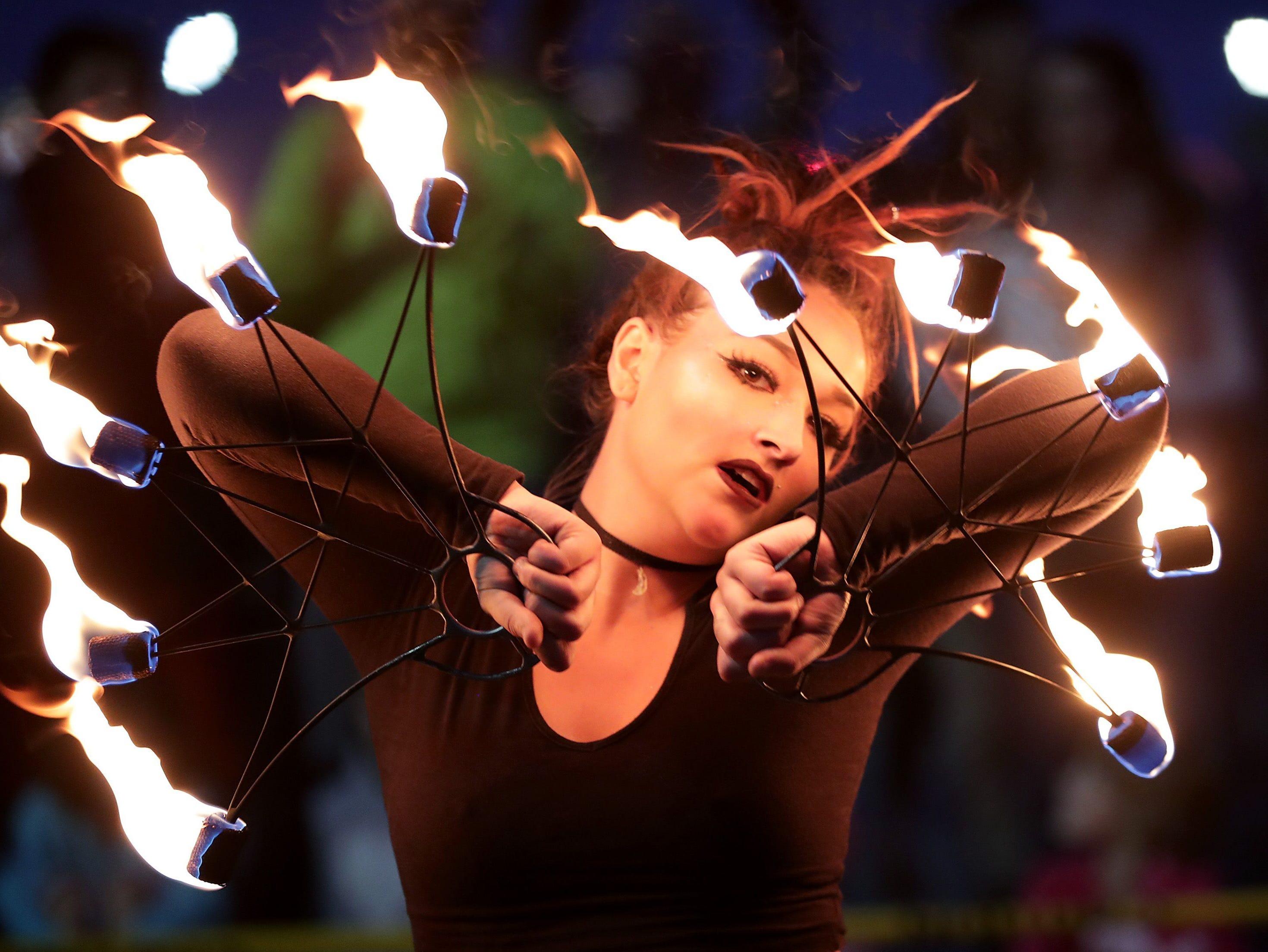 Aubrey Botello performs during Baazar After Dark in Appleton.