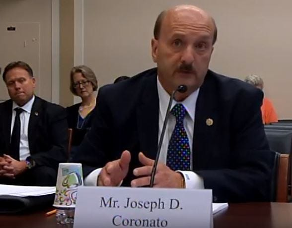 Ocean County Prosecutor Joseph D. Coronato testifies Thursday about the increasing predominance of fentanyl before the congressional Subcommittee on Africa, Global Health, Global Human Rights, and International Organizations chaired by Rep. Smith, R-N.J.