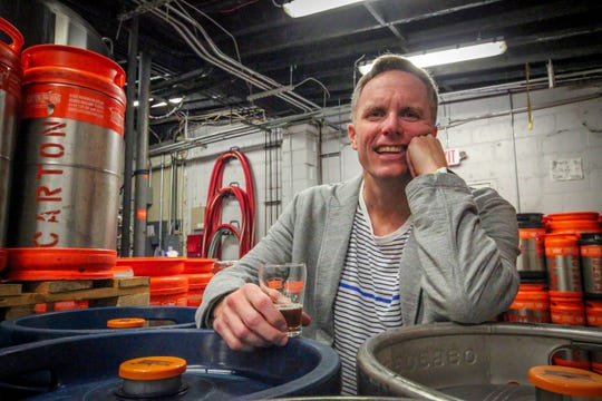 Augie Carton of Middletown, co-owner of Carton Brewing in Atlantic Highlands.