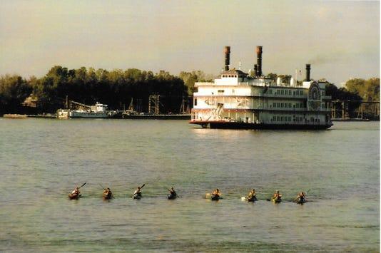 Brevard College Kayakers At Baton Rouge