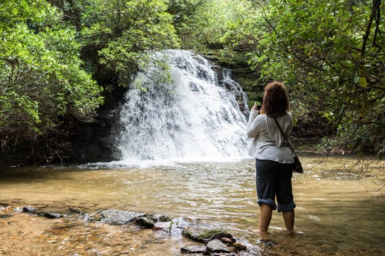 Gravely Mill Falls in the newly-opened Headwaters State Forest in Transylvania County.