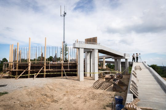 An observation deck under construction on Sassafras Mountain which sits on the border of North and South Carolina with an elevation of 3,553 feet.