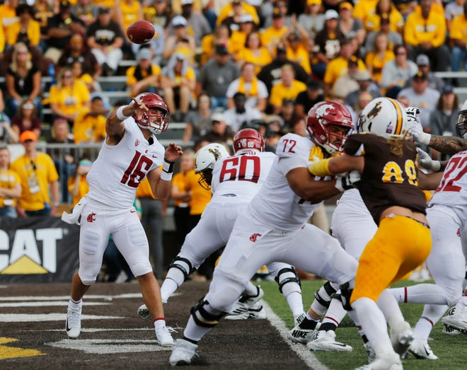 Quarterback Gardner Minshew II and the Cougars racked up 320 passing yards in their Sept. 1 win over Wyoming.