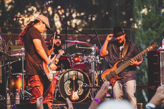 "Los Lonely Boys play what they call ""Texican Rock 'n' Roll."""