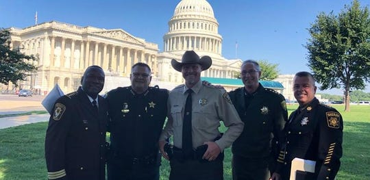 Brevard County Sheriff Wayne Ivey, second from left, met with sheriffs from across the country this week in Washington D.C. for discussions on immigration and customs.