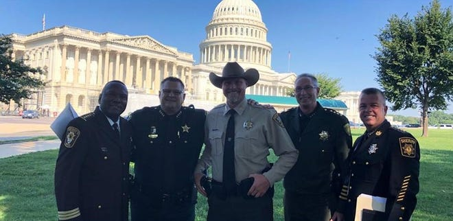Brevard County Sheriff Wayne Ivey, second from left, met with sheriffs from across the country earlier this month in Washington D.C., for discussions on immigration and customs.
