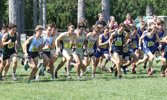 Boys runners take off during the 2018 Essex Invitational last weekend.