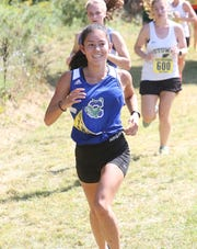Kyra Doloughty of Colchester competes during the Essex Invitational.