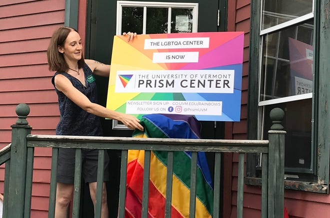 The University of Vermont's LGBTQA Center was renamed the Prism Center for ease of use as well as inclusivity.  Becky Swem, education and outreach director for the center, revealed the name at a celebration at the Center for Cultural Pluralism which houses Prism, on Sept. 6, 2018.